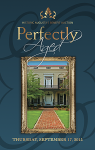 Historic Augusta's Benefit Auction Perfectly Aged 2015